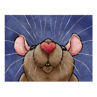Het leuke Briefkaart van de Rat van het Hart