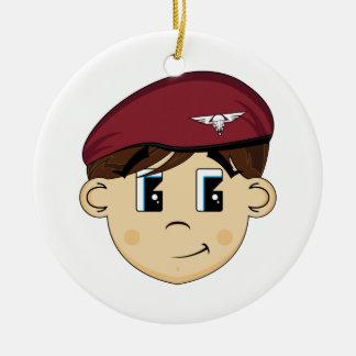Het leuke Britse Rode Ornament van de Baret