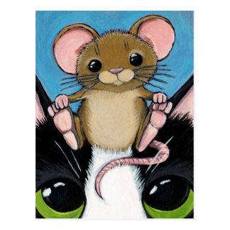 Het leuke Bruine Briefkaart van de Muis en van de