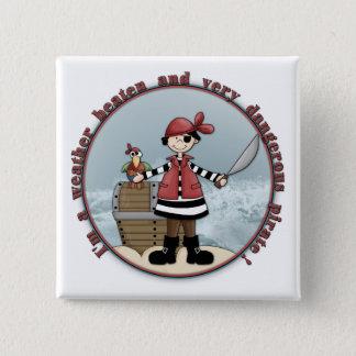 Het leuke, capricieuze ontwerp van de Piraat Vierkante Button 5,1 Cm