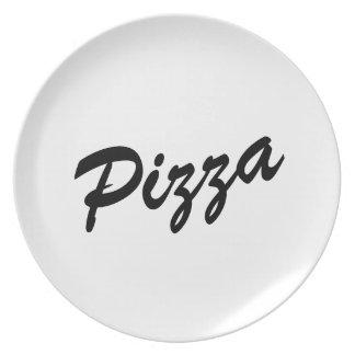 Het leuke diner van de pizzaminnaar plateert | melamine+bord