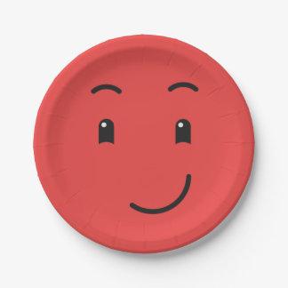 Het leuke document Smiley plateert 1/9 Papieren Bordje