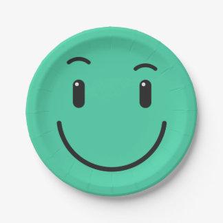 Het leuke document Smiley plateert 2/9 Papieren Bordje