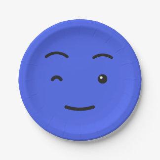 Het leuke document Smiley plateert 3/9 Papieren Bordje