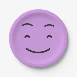 Het leuke document Smiley plateert 4/9 Papieren Bordje