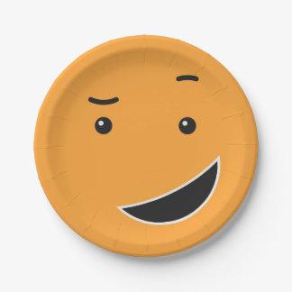 Het leuke document Smiley plateert 9/9 Papieren Bordje
