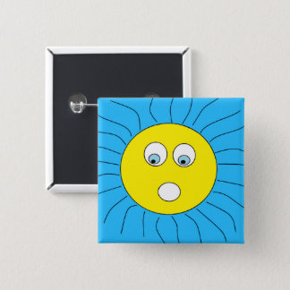 Het leuke Doen schrikken Blauw van het Ontwerp van Vierkante Button 5,1 Cm