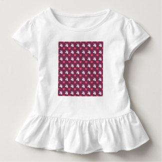 Het leuke Eenhoorn Emoji en Patroon van Harten Kinder Shirts