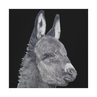 Het leuke ezels originele leven zoals canvas afdruk