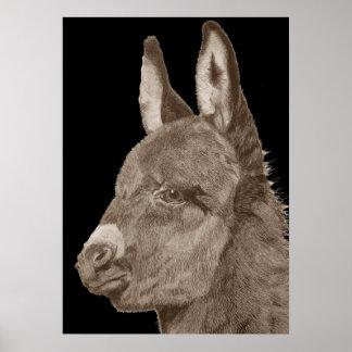 Het leuke ezels originele leven zoals poster