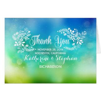 Het leuke & fancy bloemenhartenhuwelijk dankt u kaart