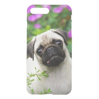 Het leuke Fawn Gekleurde Pug Puppy, ontruimt iPhone 8/7 Plus Hoesje