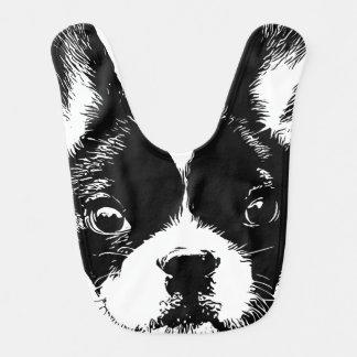 Het leuke Franse Gezicht van de Hond van de Buldog Slabbetje