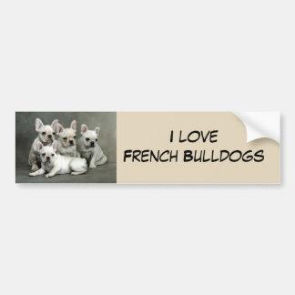 Het leuke Franse Puppy van de Buldog Bumpersticker
