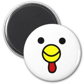 Het leuke Gelukkige Hoofd van de Kip Koelkast Magneten