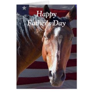 Het leuke Gelukkige Paard van het Vaderdag voor Kaart