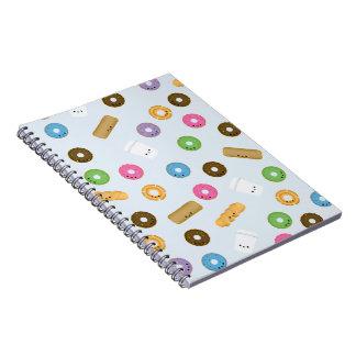 Het leuke Glimlachen Donuts en het Notitieboekje Notitieboek