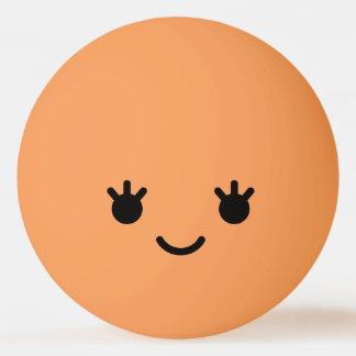 Het Leuke Grappige Gezicht Smiley van Kawaii. Pingpongbal