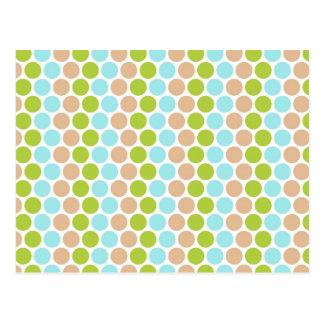 Het leuke Groenachtig blauwe Tan Girly Patroon van Briefkaart