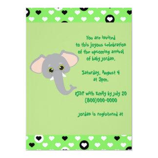 Het leuke Groene Baby shower van de Olifant van Kaart