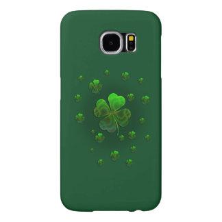 Het leuke Groene Ontwerp van Klavers Samsung Galaxy S6 Hoesje