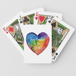 Het leuke Hart van de Regenboog van de Waterverf Poker Kaarten