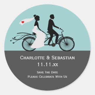 Het leuke Huwelijk Achter elkaar van de Bruid en Ronde Stickers