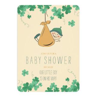 Het leuke Ierse Baby shower van de Klaver Themed Kaart