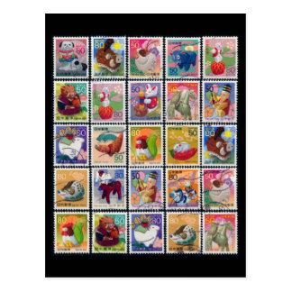 Het leuke Jaar van Japan van het Dierlijke Patroon Briefkaart