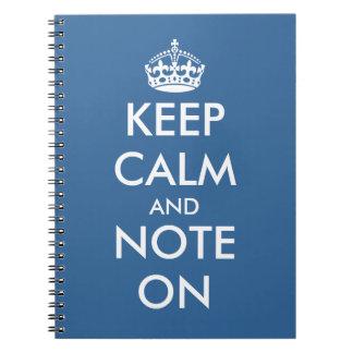 Het leuke kantoor levert | het schrijven Keepcalm Ringband Notitieboek