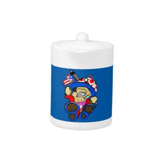 Het leuke Karakter van Puerto Rico met Vlag