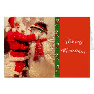 Het leuke Kerstman en Wenskaart van Kerstmis van