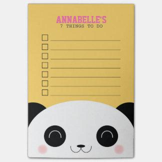 Het leuke Kind van het Gezicht van de Panda Kawaii Post-it® Notes