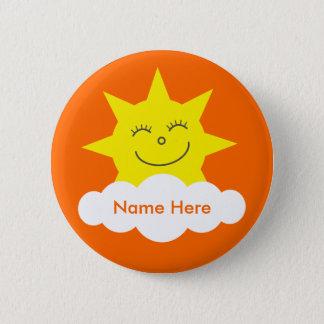 Het leuke Klantgerichte Gelukkige Oranje Ronde Button 5,7 Cm