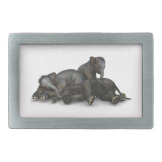 het leuke kleine babyolifanten spelen gespen