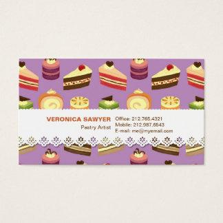 Het leuke & Kleurrijke Geïllustreerde Patroon van Visitekaartjes