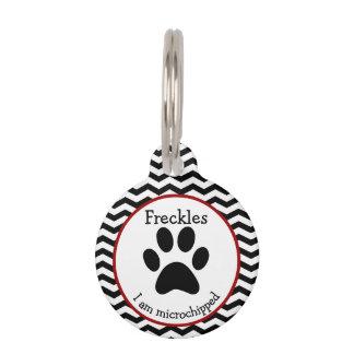 Het leuke Label van het Huisdier van de Poot Druk Huisdierpenning