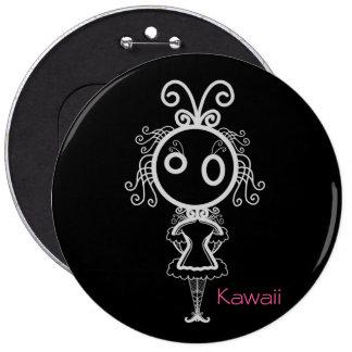 Het leuke Meisje van de Cartoon Kawaii Ronde Button 6,0 Cm