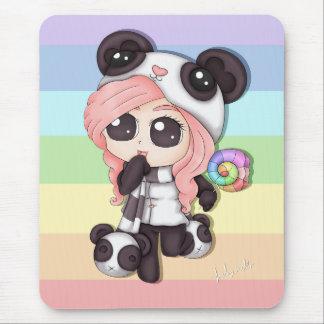 Het leuke Meisje van de Panda van Anime van de Muismatten