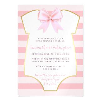 Het leuke Meisje van het Baby bloost Roze Boog & Magnetische Kaart