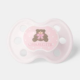 Het leuke Meisje van het Baby van de Teddybeer van Fopspeentjes