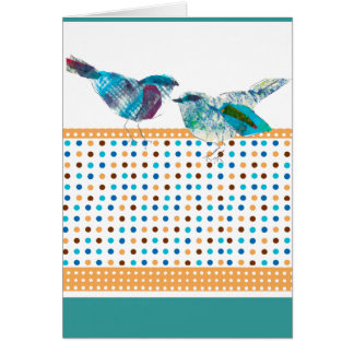 Het leuke Moderne Ontwerp van de Vogel van de Stip Briefkaarten 0