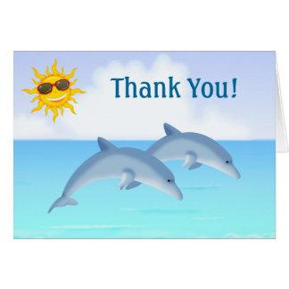 Het leuke OceaanStrand van Dolfijnen dankt u Notitiekaart
