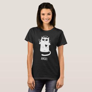 Het leuke Ontwerp van de Kat van de Engel T Shirt