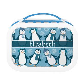 Het leuke Ontwerp van de Pinguïnen van de Winter Lunchbox