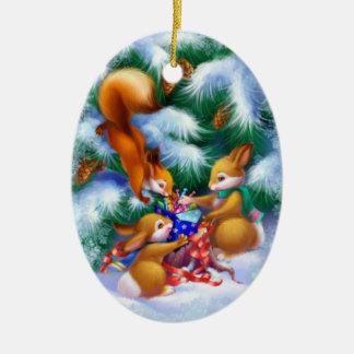 Het leuke Ornament van de Dieren van Kerstmis