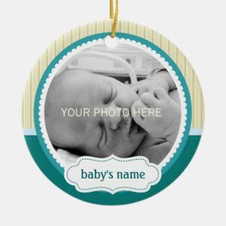 Het leuke Ornament van de Foto van het Baby