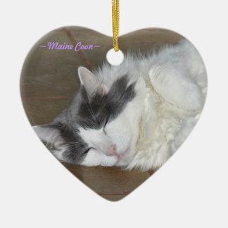 Het leuke Ornament van de slaap pluizige kat