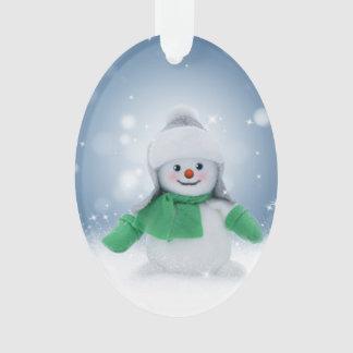 Het leuke Ornament van de Sneeuwman voor Kerstmis