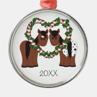 Het leuke Ornament van Kerstmis van het Paar van
